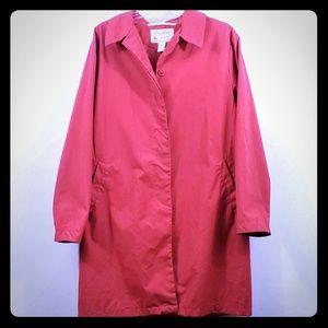 Eddie Bauer women's red trench coat size L